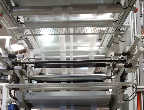 Flexographic Printer With Central Drum